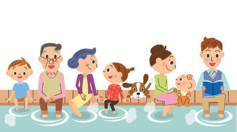 Fußbad für die ganze Familie