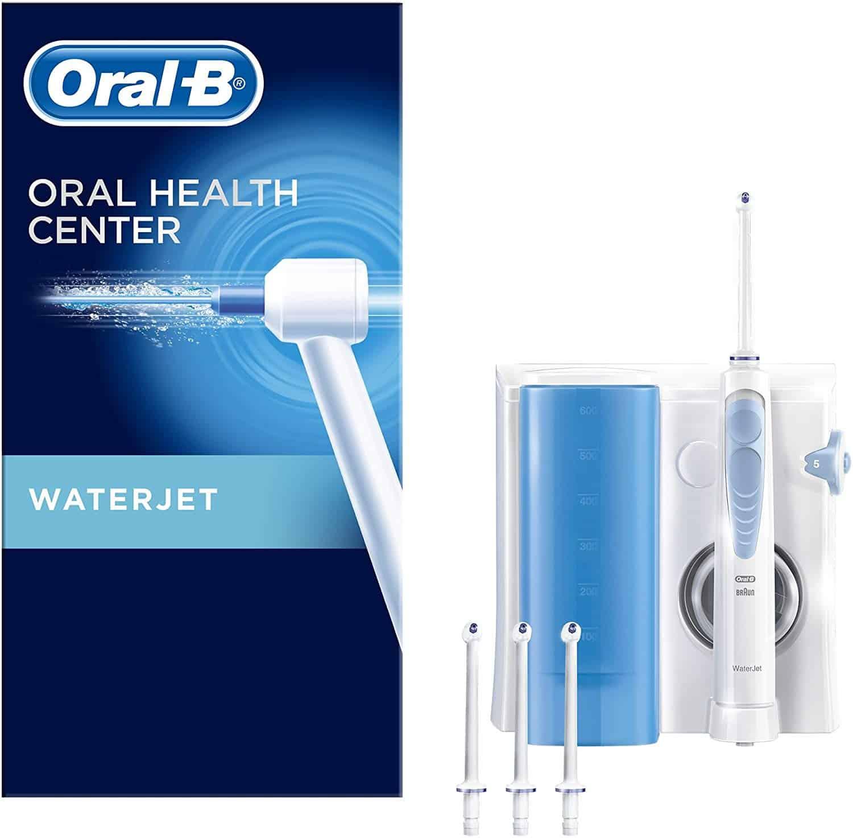 Oral-B WaterJet Reinigungssystem für eine gründliche Reinigung und Massage des Zahnfleisches, mit 4 WaterJet Aufsteckdüsen