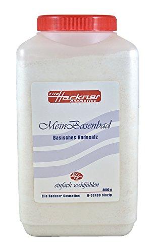 Mein Basenbad, Basische Körperpflege, Basisches Badesalz mit Himalajasalz und natürlichen Mineralien (3Kg) von ElioHackner Cosmetics