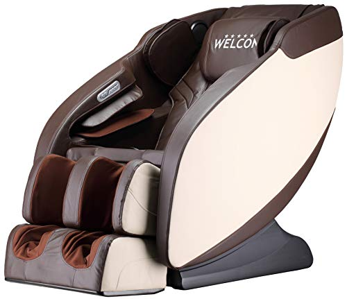 WELCON Luxus Massagesessel   Massagestuhl mit Shiatsu Massage Sessel braun/beige Prestige II